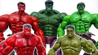 Power Battle Between Hulk And Red Hulk~! Somebody Stop Them #ToyMartTV