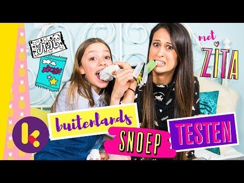 Buitenlands snoep testen met Zita en MeisjeDjamila