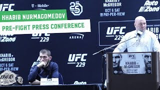Khabib Nurmagomedov Full Press Conference || UFC 229