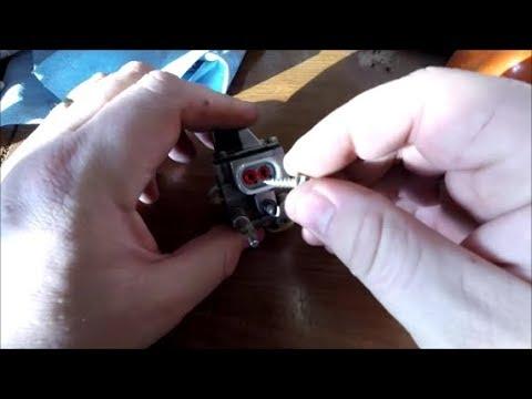 DIY Stihl Husqvarna Chainsaw Carburetor Walbro Repair Limiter Cap Tab Removal MS290 029 Super