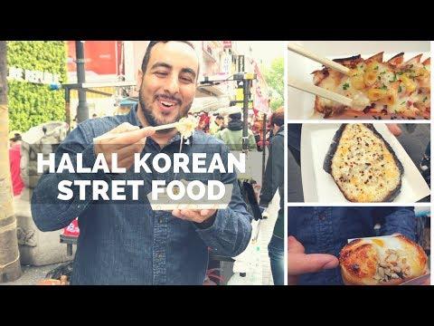 INSANE HALAL KOREAN STREET FOOD TOUR IN SEOUL! HUGE Street food tour of Myeongdang & Korean BBQ! - YouTube