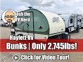 2017 Rpod 176 Bunkhouse Teardrop Used Travel Trailer only 2745lbs