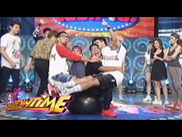 It's Showtime: Team Vice on a stability ball