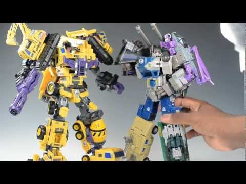 Transformers Toy Review: MakeToys Giant set C (Mixer/Wheel Loader) and Full Gestalt Combined mode!