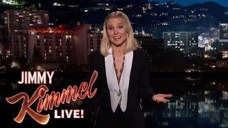 Kristen Bell's Guest Host Monologue on Jimmy Kimmel Live