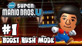 New Super Mario Bros U Wii U - Boost Rush Mode #1