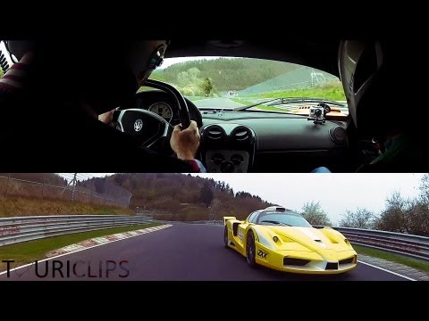 Onboard: Maserati MC12 Corsa vs Ferrari Enzo ZXX by Edo-Competition on the Nürburgring Nordschleife!
