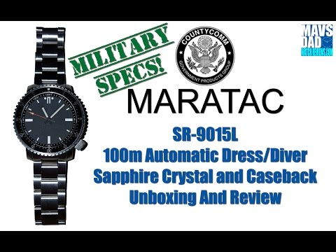 Maratac - County Comm 100m Automatic Dress/Diver SR-9015L Unboxing And Review