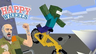 Monster School : Happy Wheels Challenge - Minecraft Animation
