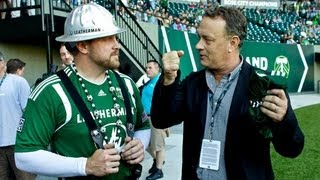 Tom Hanks attends Timbers vs. Aston Villa friendly