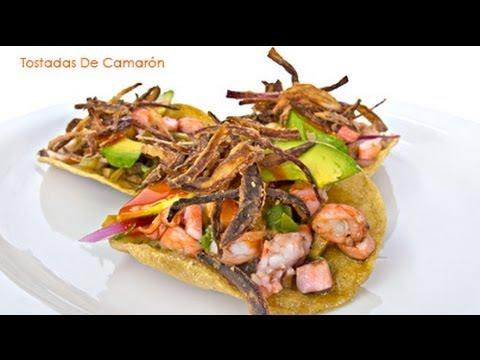 Tostadas de Ceviche de Camarón