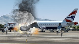 Bursting into Flames Before Takeoff in Las Vegas | British Airways 2276 | 4K