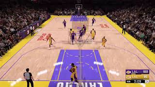 LBJ & AD LAKERS vs SHAQ & KOBE LAKERS NBA2K19 @ HOF Difficulty