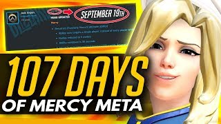 Overwatch | 107 Days of MERCY META - Why Blizzard Haven't Changed Mercy or Junkrat Yet