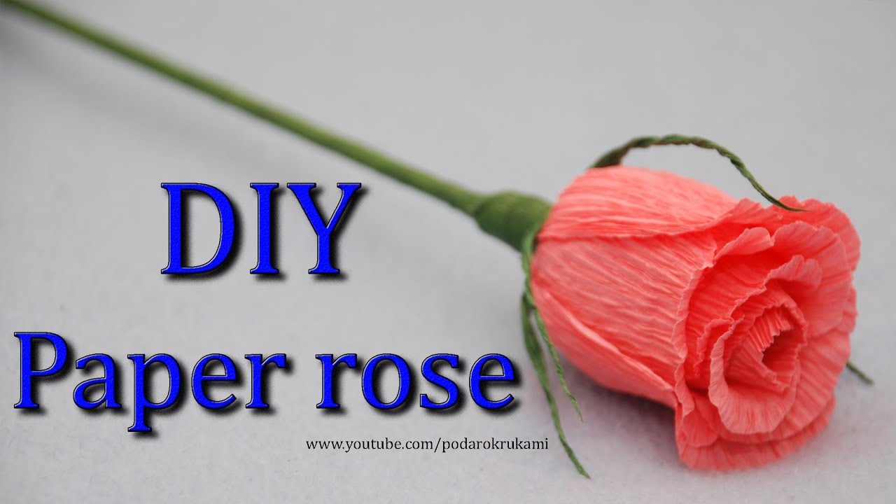 How To Make A Crepe Paper Rose Diy Youtube 2640869