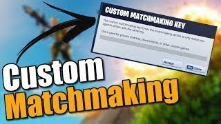 *NEW* HOSTING CUSTOM MATCHMAKING!! RIGHT NOW!! (Fortnite Battle Royale) Live