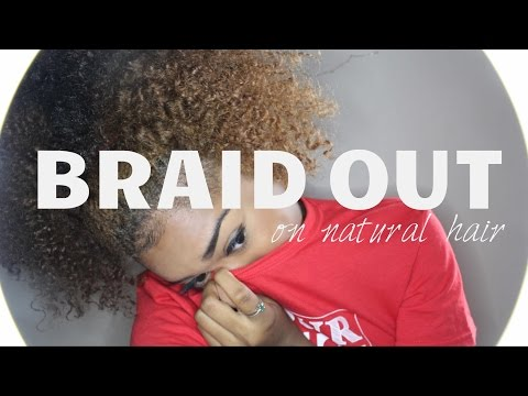 My Heatless Naturally Curly Hair Braid Out! ☯