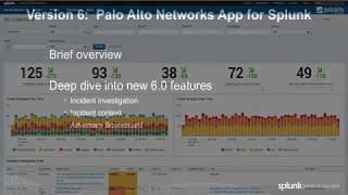 Palo Alto Networks App for Splunk v6.0 Demo