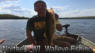 Walleye Fishing Northern WI Lakes For Huge Walleyes!