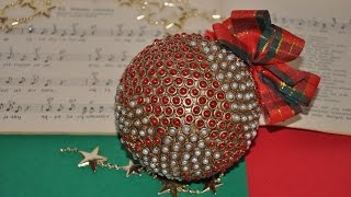 Bombka z makaronu krok po kroku  #  Christmas Ornaments DIY craft