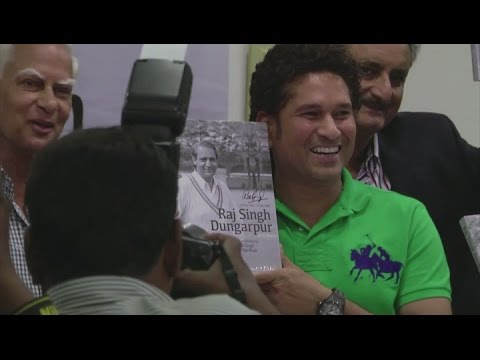 Sachin Tendulkar appears at a book launch in Mumbai