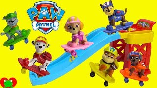 Paw Patrol Skateboarding Pups With Gumball Surprises