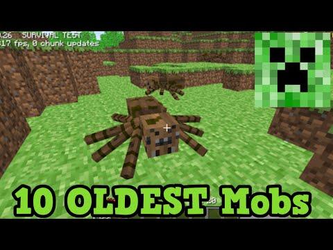 Minecraft Top 10 OLDEST MOBS