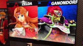 Zelda vs Ganondorf - Armageddon Expo 2018 Super Smash Bros Ultimate Demo