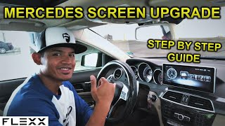 INSTALL LARGE ANDROID SCREEN ON MERCEDES C-CLASS