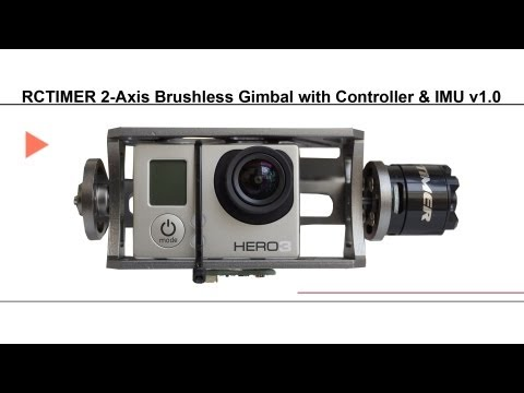 RCTIMER 2-Axis Brushless Gimbal with Controller & IMU v1.0