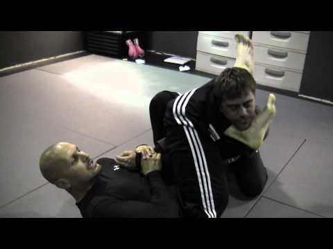 Takedown Defense Using Sit Up Sweep Variation, Gogoplata Variation With Armbar Image 1