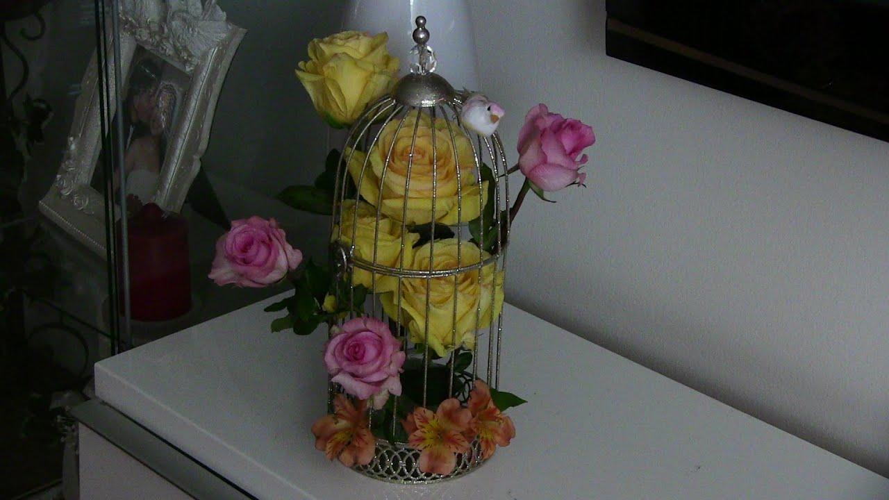 Centros de mesa con jaulas y flores youtube - Centros de mesa con flores ...