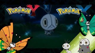Pokemon X and Y Shiny Scatterbug evolutions (Garden and High Plains Vivillon)