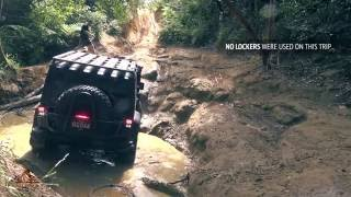 Jeep Wrangler JK on 37 inch tyres offroading 4x4 4wd Glass House Mountains