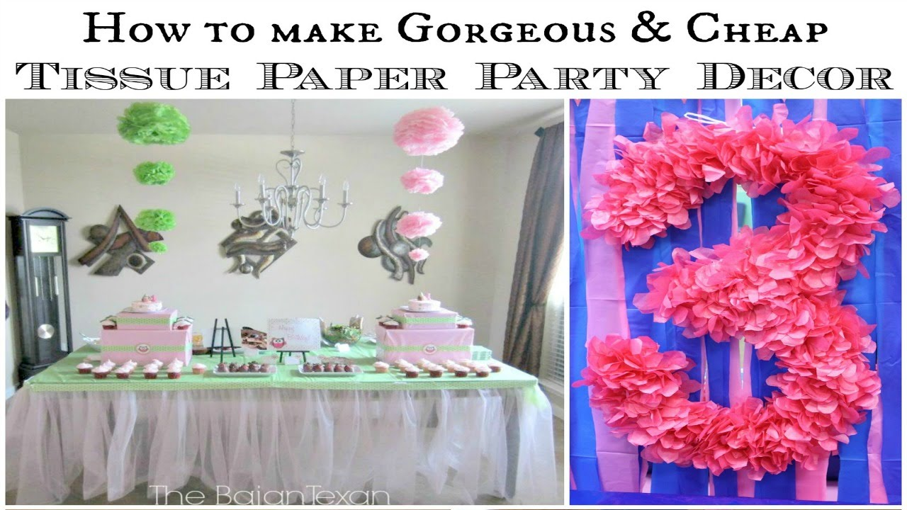 Hanging Ombre Tissue Paper Flowers Tutorial YouTube