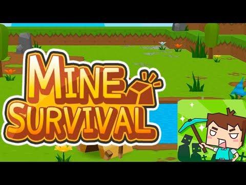 МОЁ ВЫЖИВАНИЕ! Mine Survival Обзор Игры Детское Видео Игровой Мультик Let's play