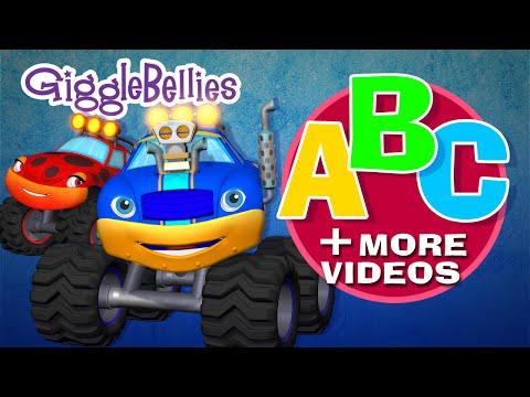 Monster Truck ABC + More Monster Truck Espisodes  Over 1 Hour  GiggleBellies