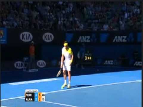 David Ferrer Vs. Nicolas Almagro - Australian Open 2013 [ Quarterfinals ] - Last Game