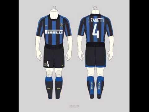 Tutte le maglie di Javier Zanetti
