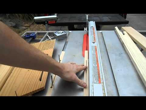 Home-made featherboards for table saw