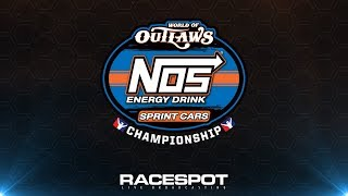 World of Outlaws NOS Energy Drink Sprint Cars Championship   Round 9 at Dirt Track Charlotte