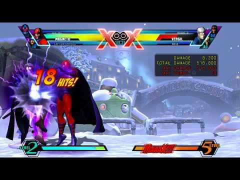 UMVC3: Magneto BNB with Captain America Shield Slash Extension