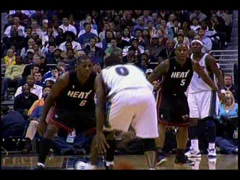 Dwyane Wade vs Gilbert Arenas Heat vs Wizards 2009/11/4 Video