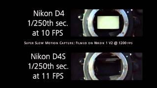 Nikon D4 vs Nikon D4S shutter mechanism comparison video