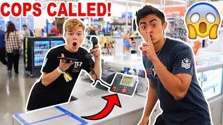 "PLAYING ""RANSOM"" ON THE WALMART INTERCOM! *COPS CALLED*"