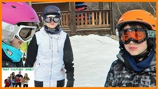 Our First Time Snow Skiing / That YouTub3 Family