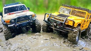 RC Cars MUD and Splashes — Hummer H1 Axial SCX10, Toyota FJ Cruiser HPI Venture — Wilimovich