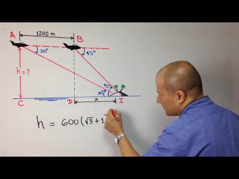 Problema de Trigonometría usando triángulos rectángulos