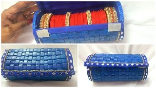 How to make bangle box from old recycled newspaper I Best out of waste I Creative Diaries