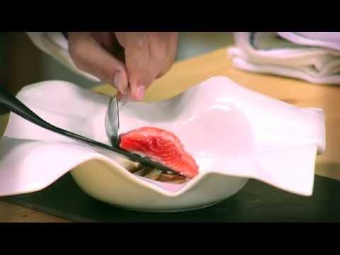 Trucha del Fiordo con sopas de ajo - Receta